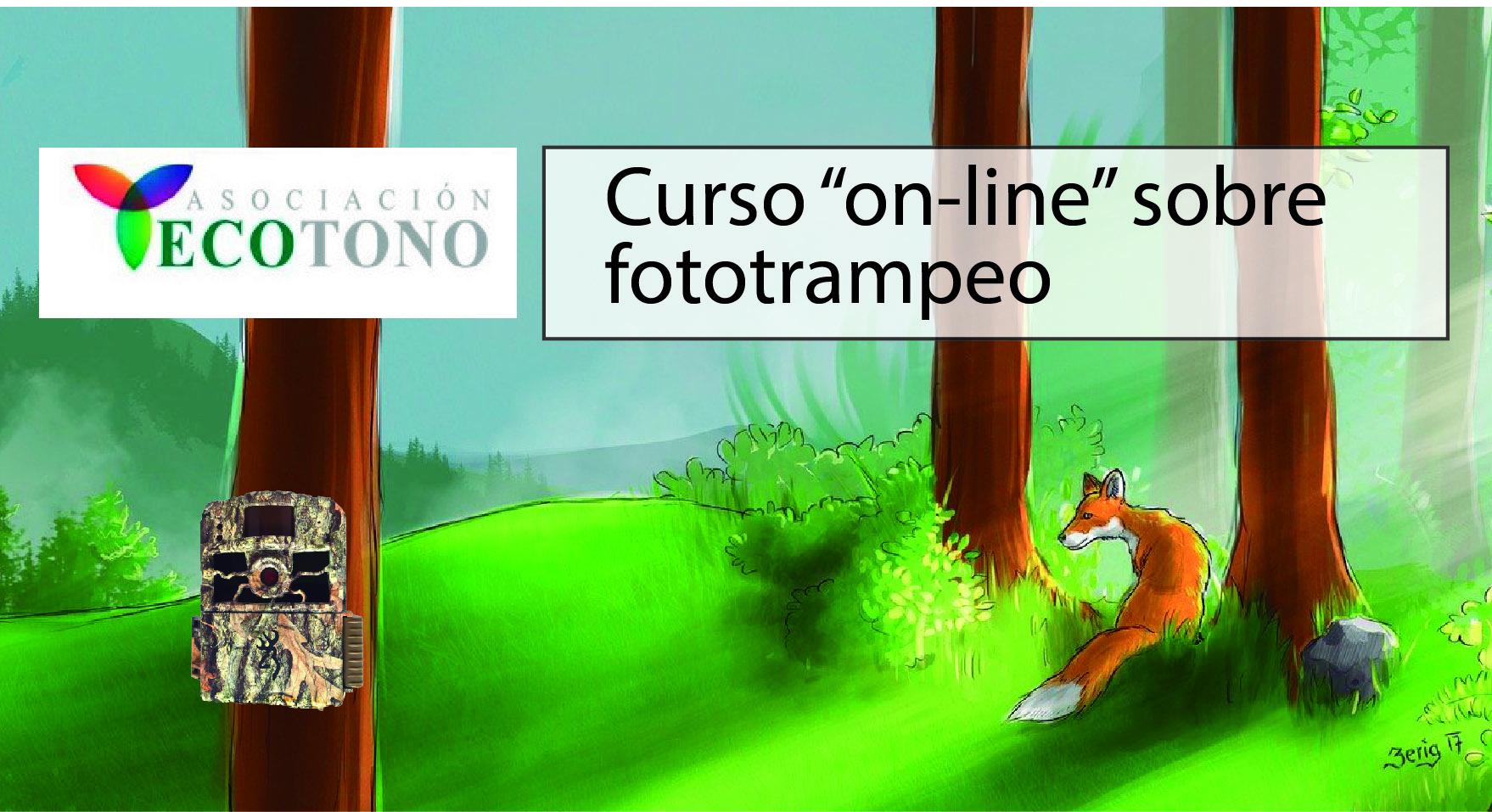 """Curso """"on-line"""" sobre fototrampeo."""